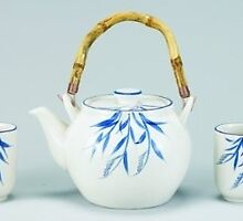 5 Pc Porcelain Tea Set by kitchenwineandh
