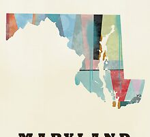 Maryland state map by bri-b