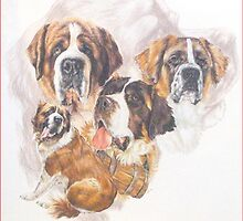 Saint Bernard w/Ghost Image by BarbBarcikKeith