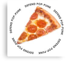 DEFEND POP-PUNK PIZZA Canvas Print