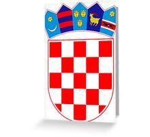 Coat of Arms of Croatia  Greeting Card