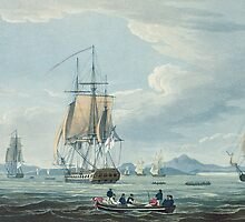 The Prometheus and the Melpomene in the Gulf of Riga to meet the British Squadron by Bridgeman Art Library