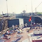 Crossing the Atlantic Locks, Panama Canal by lenspiro