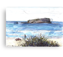 Cook Island From Fingal Head Canvas Print