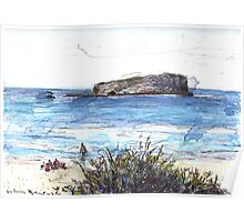 Cook Island From Fingal Head Poster