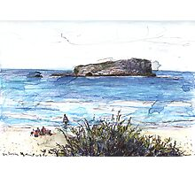 Cook Island From Fingal Head Photographic Print