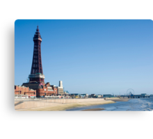 Blackpool watefront Canvas Print