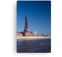 Blackpool Tower and waterfront Canvas Print