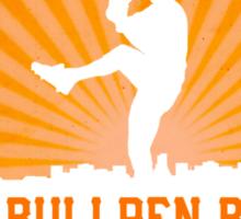 Bullpen Bums Reverse Sunburst Sticker