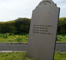 Blank headstone with poetic inscription by photoeverywhere