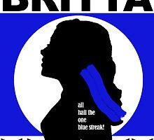 The One Blue Streak!  by intellichick