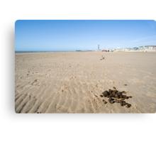 Donkey rides on Blackpool beach Canvas Print