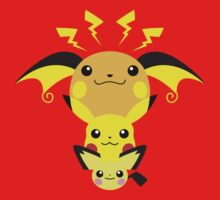 Pokemon - Pikachu's Cute Evolution T-Shirt