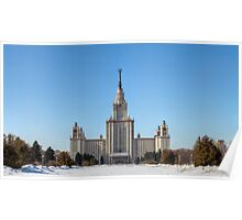 Moscow State University in the Snow Poster