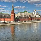 The Kremlin and Moskva River by pixog