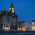 The Three Graces at night by Paul Madden