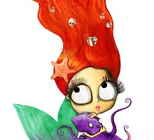 Red Hair Spooky Mermaid by colonelle