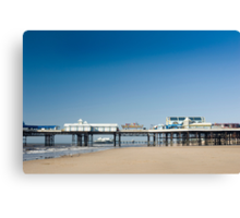Blackpool central pier Canvas Print