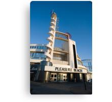 Blackpool Pleasure Beach building Canvas Print