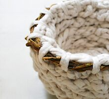 Petite: Textile Art Vessel by Megan Walsh-Cheek by MeganWalshCheek