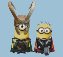 Minions Thor and Loki by minionsaddict