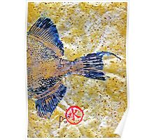 Gyotaku - Triggerfish - Oldwench -  Diptych 2  Poster