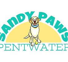Sandy Paws Pentwater | Logo Design by Off-Leash Art by offleashart