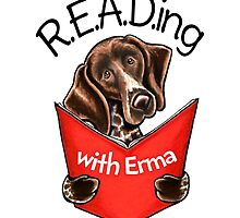 Reading with Erma | Logo Design by Off-Leash Art by offleashart