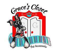 Grace's Closet Pet Accesories | Logo Design by Off-Leash Art by offleashart
