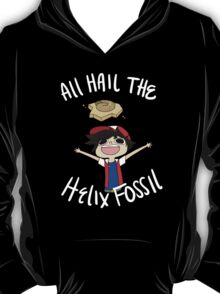 All Hail The Helix Fossil - White Text T-Shirt