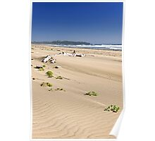 Sandy beach on Pacific ocean in Canada Poster