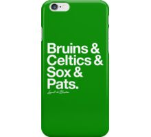 Loyal to Boston (White Print) iPhone Case/Skin