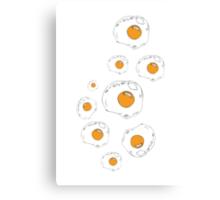 Raining Eggs Canvas Print