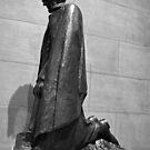 Lincoln Kneeling In Prayer by Cora Wandel