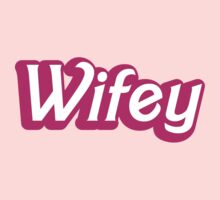 Wifey in cute bubble pink font by jazzydevil