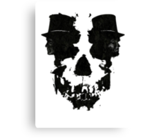 Skull of Jekyll/Hyde Canvas Print