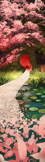Cherry Blossom Geisha by Julia Blattman