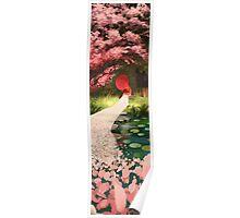 Cherry Blossom Geisha Poster