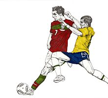 World Cup Soccer - Portugal x Brazil by Paul  Nelson-Esch