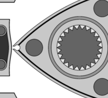 Rotary engine diagram - Boost in, apex seals out. Sticker