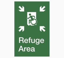 Refuge Area Accessible Exit Sign, with the Accessible Means of Egress Icon, part of the Accessible Exit Sign Project by LeeWilson