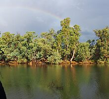 Rainbow on the River by Joel Bramley