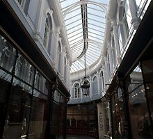 Glass roof and shopfronts of the Morgan Arcade by photoeverywhere