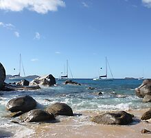 Sailing Boats at the Baths, BVI by stine1