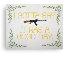It Was A Good Day Canvas Print