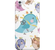Cute seamstress bird sewing notions iPhone Case/Skin