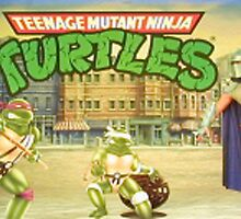 Ninja Turtles Arcade Marquee by wilt818