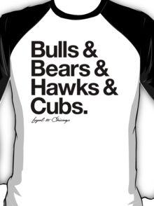 Loyal to Chicago - North Side (Black Print) T-Shirt