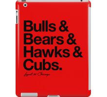 Loyal to Chicago - North Side (Black Print) iPad Case/Skin
