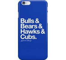 Loyal to Chicago - North Side (White Print) iPhone Case/Skin